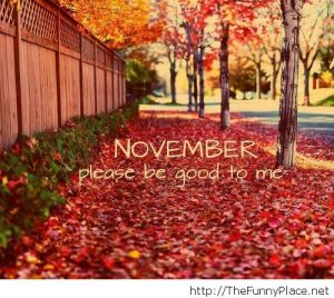 November Please be good
