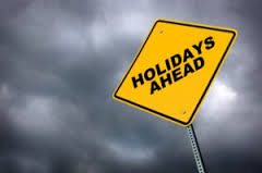holiday warning sign