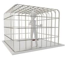 caged person